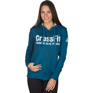 בגדי חורף ריבוק לנשים Reebok RCF Full Zip Hoody - כחול