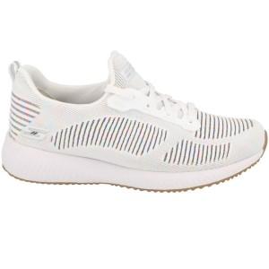 נעלי אימון סקצ'רס לנשים Skechers Bobs Squad - לבן