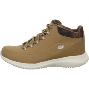 נעלי טיולים סקצ'רס לנשים Skechers Ultra Flex Just Chill - חרדל