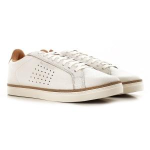 נעליים לה קוק ספורטיף לגברים Le Coq Sportif COURTACE PREMIUM marshmallow brown sugar - לבן