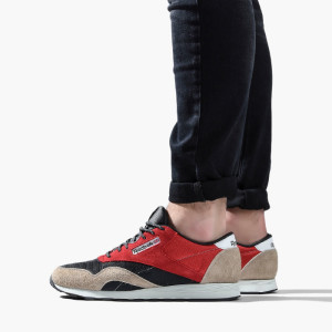 נעליים ריבוק לגברים Reebok Classic Nylon - שחור/אדום