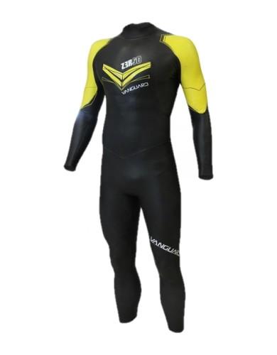 בגדי ים זארוד לגברים ZEROD VANGUARD - שחור/צהוב
