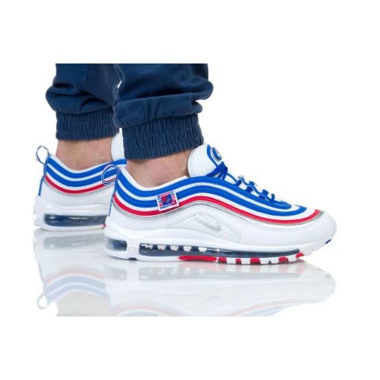 נעליים נייק לגברים Nike AIR MAX 97 - לבן  כחול  אדום