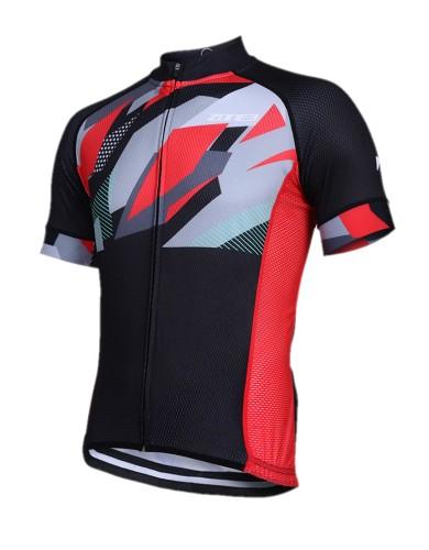 ביגוד זון3 לגברים ZONE3 Riding shirt - שחור/אדום