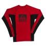 בגדי ים ריף לגברים Reef Logo Rashguard II LS - אדום