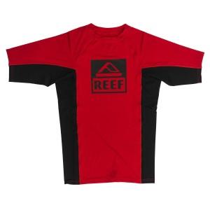 בגדי ים ריף לגברים Reef Logo Rashguard II SS - אדום