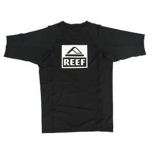 בגדי ים ריף לגברים Reef Logo Rashguard II SS - שחור