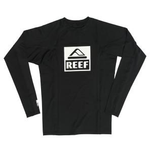 בגדי ים ריף לגברים Reef Logo Rashguard II LS - שחור