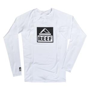 בגדי ים ריף לגברים Reef Logo Rashguard II LS - לבן