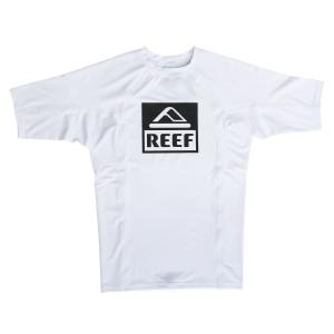 בגדי ים ריף לגברים Reef Logo Rashguard II SS - לבן