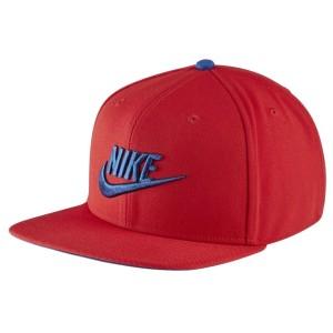 אביזרי ביגוד נייק לנשים Nike U NSW PRO CAP FUTURA - כחול/אדום