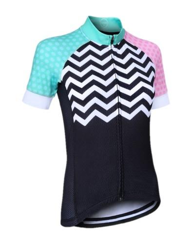 ביגוד זון3 לנשים ZONE3 Riding shirt - שחור/ורוד