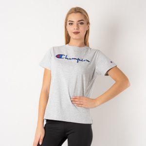 חולצת T צ'מפיון לנשים Champion Crewneck T - אפור בהיר