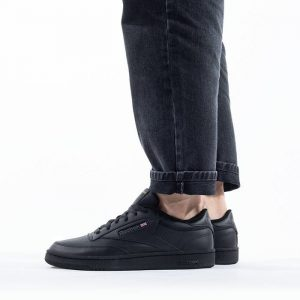 נעלי סניקרס ריבוק לגברים Reebok Club C 85 - שחור מלא