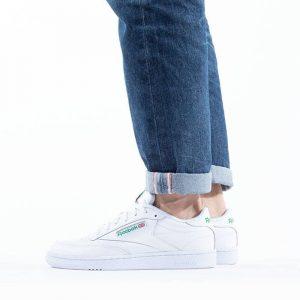 נעלי סניקרס ריבוק לגברים Reebok Club C 85 - לבן/ירוק