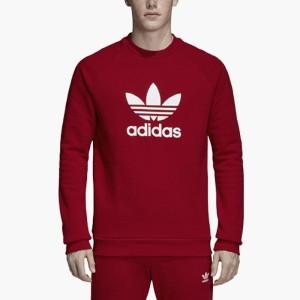 ביגוד Adidas Originals לגברים Adidas Originals Trefoil Warm-Up Crew - אדום