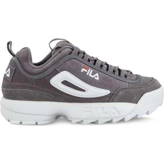 נעלי סניקרס פילה לגברים Fila DISRUPTOR S LOW 6QW - אפור