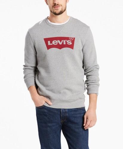ביגוד ליוויס לגברים Levi's Graphic Crew B HM Fleece - אפור