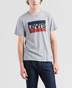 ביגוד ליוויס לגברים Levi's Logo Graphic Tee - אפור