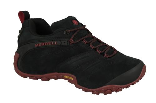 נעלי טיולים מירל לגברים Merrell  CHAMELEON II LEATHER - שחור/אדום