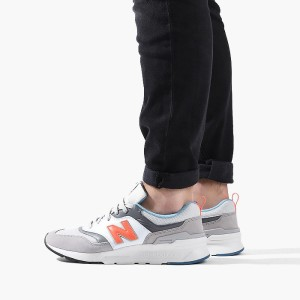 נעליים ניו באלאנס לגברים New Balance CM997 - אפור/כתום