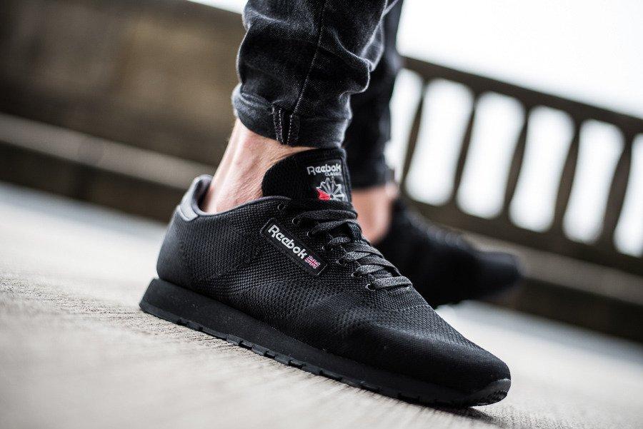 792db54f8758 נעליים ריבוק לגברים Reebok Classic Leather - שחור