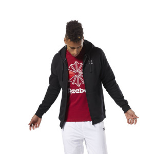 בגדי חורף ריבוק לגברים Reebok Classics F Full Zip Hoodie international  - שחור