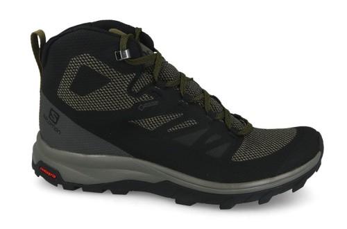 נעלי טיולים סלומון לגברים Salomon Outline Mid Gore-Tex GTX - שחור