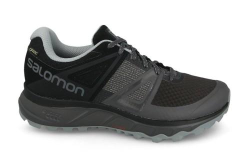 נעלי טיולים סלומון לגברים Salomon Trailster Gore-Tex - שחור/אפור