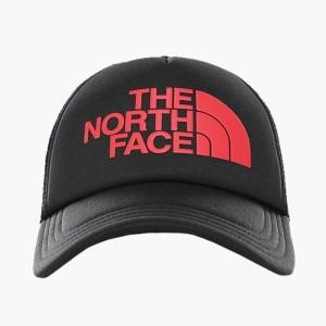 אביזרי ביגוד דה נורת פיס לגברים The North Face Logo Trucker - שחור/אדום