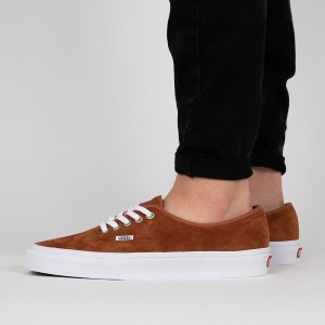 נעליים ואנס לגברים Vans Authentic Leather - חום