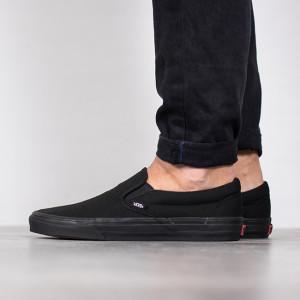 נעליים ואנס לגברים Vans Classic Slip On - שחור מלא