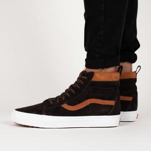 נעליים ואנס לגברים Vans Sk8-Hi - חום
