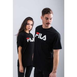 ביגוד פילה לנשים Fila PURE SHORT SLEEVE SHIRT 002 - שחור