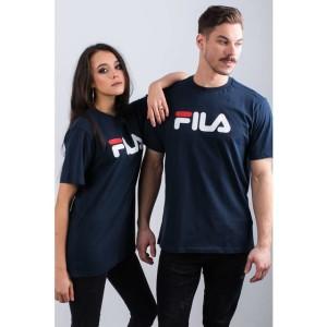 ביגוד פילה לנשים Fila PURE SHORT SLEEVE SHIRT 170 - כחול כהה