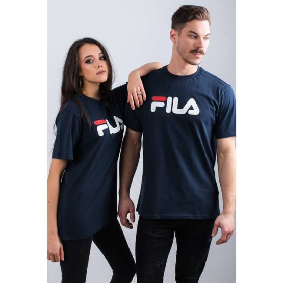 חולצת T פילה לגברים Fila PURE SHORT SLEEVE SHIRT 170 - כחול כהה