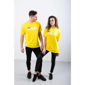 ביגוד פילה לנשים Fila PURE SHORT SLEEVE SHIRT V51 - צהוב