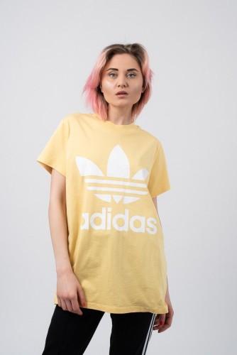 ביגוד Adidas Originals לנשים Adidas Originals Adicolor Big Trefoil - צהוב