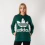 בגדי חורף Adidas Originals לנשים Adidas Originals Trefoil - ירוק