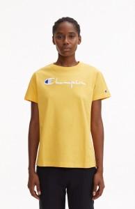 ביגוד צ'מפיון לנשים Champion Crewneck T - צהוב