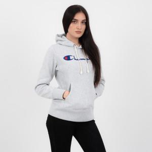 ביגוד צ'מפיון לנשים Champion Hooded - אפור בהיר