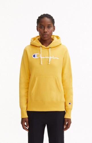 ביגוד צ'מפיון לנשים Champion Hooded - צהוב