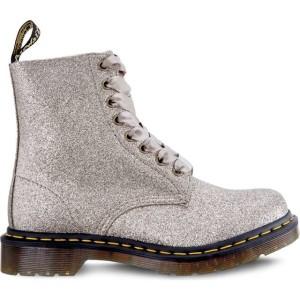 מגפיים דר מרטינס  לנשים DR Martens 1460 PASCAL GLITTER PALE GOLD - אפור