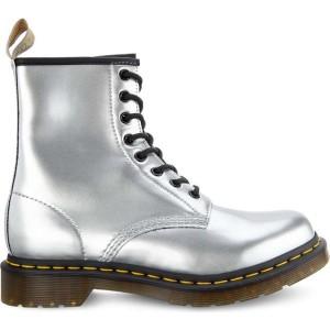 מגפיים דר מרטינס  לנשים DR Martens 1460 Vegan Chrome - כסף