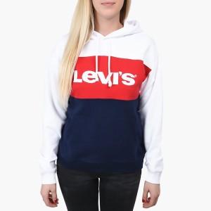 ביגוד ליוויס לנשים Levi's CB Sportswear Hoodie - כחול/אדום