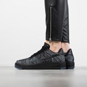 נעליים נייק לנשים Nike Air Force 1 Flyknit Low - אפור/שחור