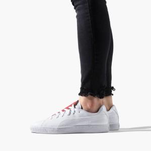 נעליים פומה לנשים PUMA Basket Crush - לבן/אדום