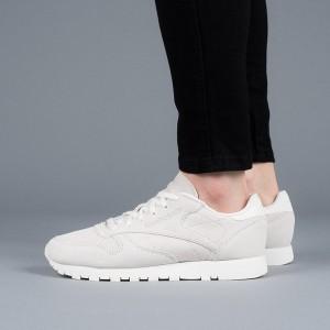 נעליים ריבוק לנשים Reebok Classic Leather NBK - אפור בהיר