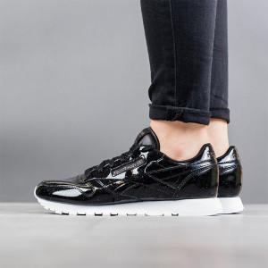 נעליים ריבוק לנשים Reebok Classic Leather Patent Pearl - שחור נצנצים