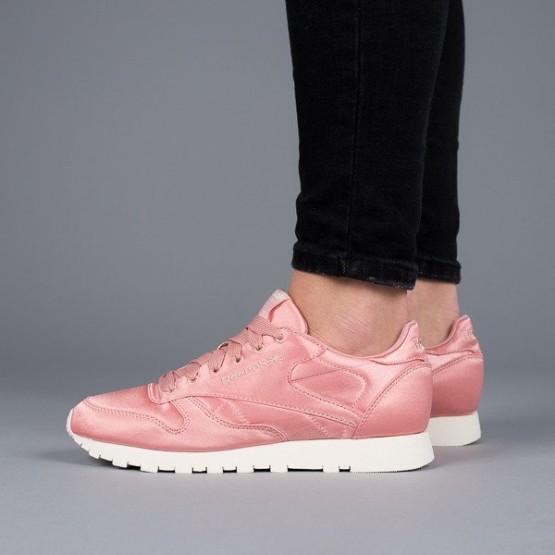 נעליים ריבוק לנשים Reebok Classic Leather Satin - ורוד